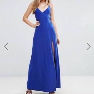 Asos royal blue dress